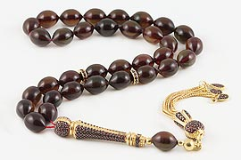 Amber Bakelite Prayer Beads