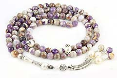 Amethyst & Pearl Prayer Beads (99 Beads)