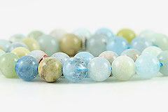 Aquamarine Prayer Beads