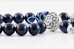 Blue Goldstone Worry Beads