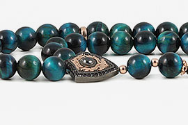 Blue Tiger's Eye Prayer Beads