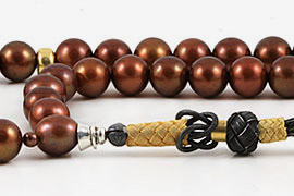 Brown Pearl Prayer Beads