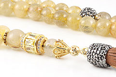 Golden Quartz Mala