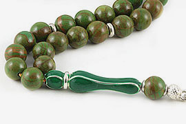 Green Jasper Prayer Beads