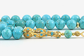 Howlite Turquoise Prayer Beads