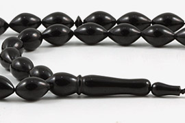 Jet Stone (Black Amber) Prayer Beads