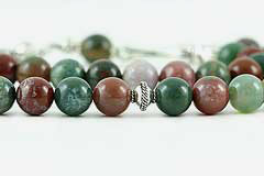 Moss Agate Prayer Beads