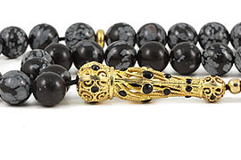 Obsidian Prayer Beads