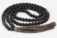Onyx & Ebony Tree Mala