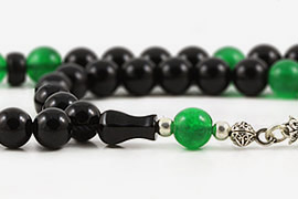 Onyx & Jade Prayer Beads