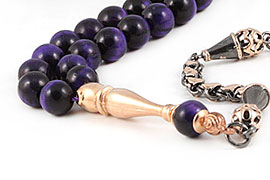 Purple Tiger's Eye Prayer Beads