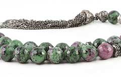 Ruby-Zoisite Prayer Beads