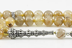 Rutilated Golden Quartz Prayer Beads
