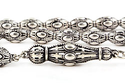 Silver Filigree Prayer Beads