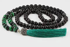 Tiger's Eye & Ebony Tree Mala