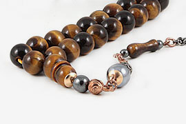 Tiger's Eye Prayer Beads