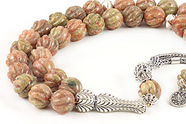 Unakite Jasper Prayer Beads