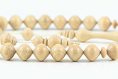 White Rosewood Prayer Beads