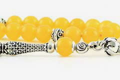 Yellow Agate Prayer Beads