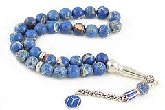 Blue Variscite Prayer Beads
