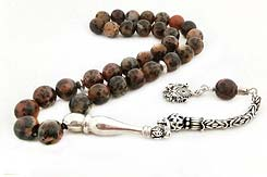Mozambique Agate Prayer Beads