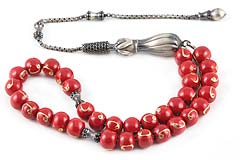 Enamel Silver Prayer Beads