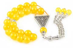 Yellow Agate Worry Beads