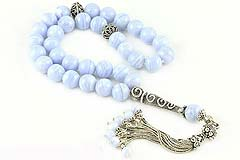 Blue Chalcedony Prayer Beads
