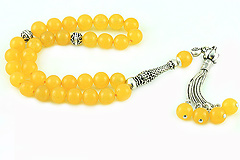 Honey Agate Prayer Beads