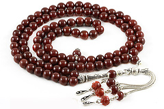 Agate (Carnelian) Prayer Beads (99 Beads)