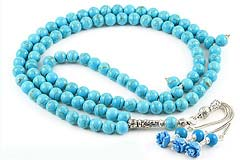 Howlite Turquoise Prayer Beads (99)