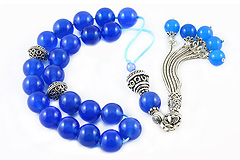 Blue Agate Worry Beads
