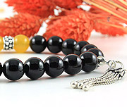 Onyx & Honey Agate Bracelet