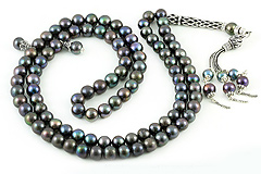 Black Pearl Prayer Beads (99)