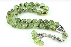 Prehnite Prayer Beads