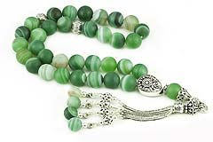 Green Banded Agate Prayer Beads