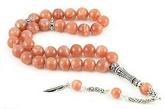 Sunstone Prayer Beads