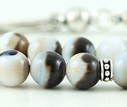 Banded White Onyx Prayer Beads