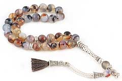 Banded Agate Prayer Beads